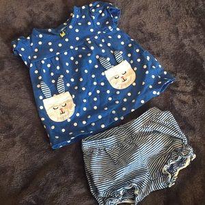 9 mo Girl Top & Short Outfit